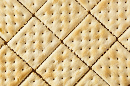 Organic Whole Wheat Soda Crackers ready to eat photo