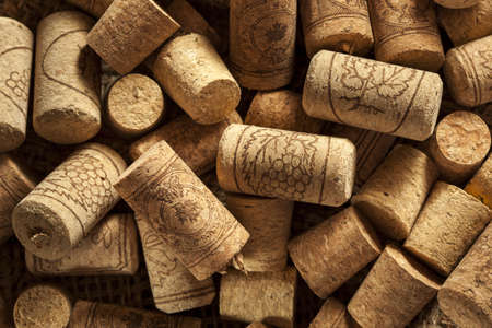 Rustic Brown Wine Corks in a large group photo