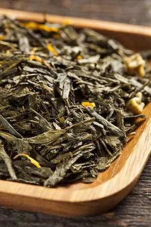 antioxidants: Hot Organic Healthy Green Tea with antioxidants