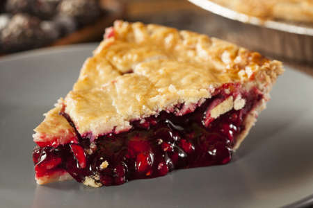 cherry pie: Homemade Organic Berry Pie with blueberries and blackberries