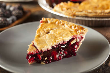 Homemade Organic Berry Pie with blueberries and blackberries