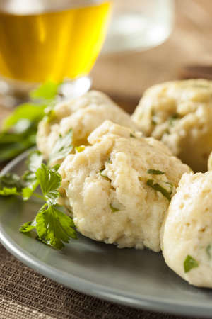 Homemade Matzo Ball Dumplings with Parsley for passover Stock Photo - 20086111