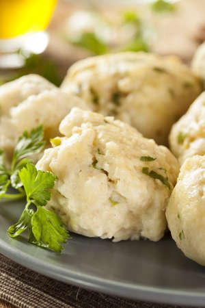 Homemade Matzo Ball Dumplings with Parsley for passover Stock Photo - 20086114