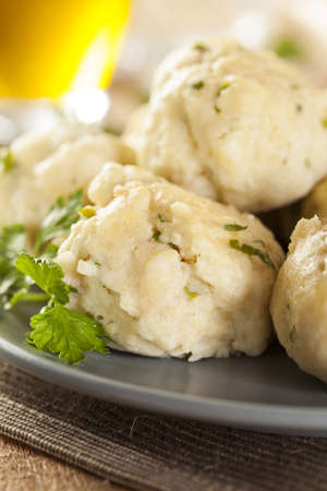 Homemade Matzo Ball Dumplings with Parsley for passover Stock Photo - 20086106