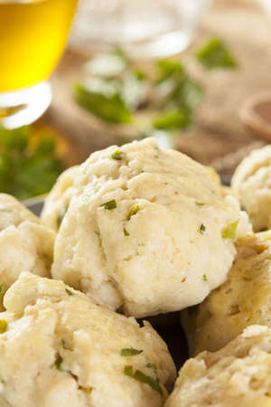 Homemade Matzo Ball Dumplings with Parsley for passover Stock Photo - 20086121