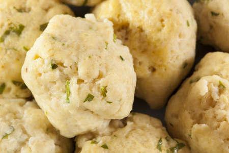 Homemade Matzo Ball Dumplings with Parsley for passover Stock Photo - 20086149