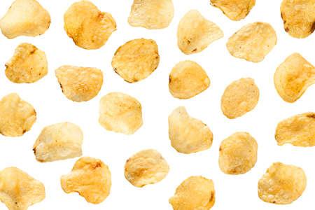 Unhealthy Crispy Potato Chips on a Background Reklamní fotografie
