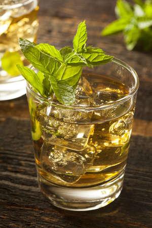 Homemade Gourmet Fresh Mint Julep Alcoholic Cocktail Stock Photo