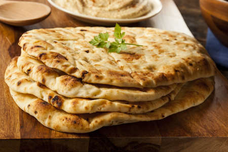 Homemade Indian Naan Flatbread made with Whole Wheat photo