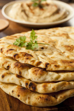 Homemade Indian Naan Flatbread made with Whole Wheat
