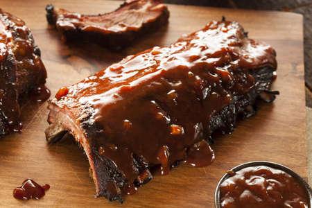 rib: Ahumados Barbacoa Costillas de Cerdo con Salsa