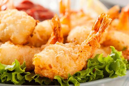 shrimp cocktail: Fried Organic Coconut Shrimp with Cocktail Sauce