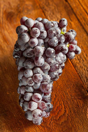vino: Organic Purple Wine Grapes on a Background