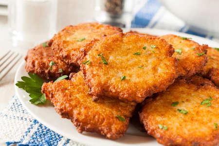potato: Homemade khoai tây truyền thống Pancake Latke