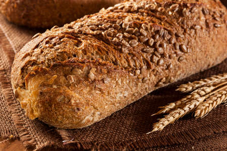 Fresh Homemade Whole Wheat Bread on a Background Stok Fotoğraf