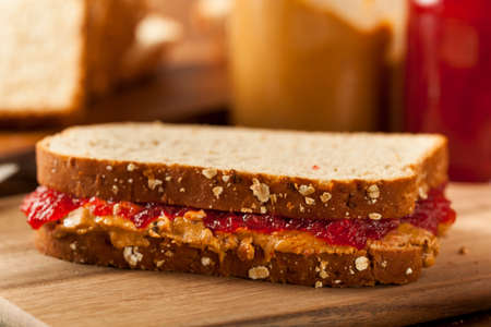 jellies: Homemade Peanut Butter and Jelly Sandwich on Whole Wheat