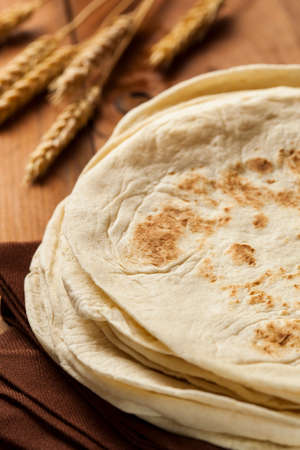 Stack of Homemade Whole Wheat Flour Tortillas