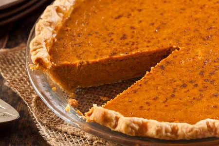 Homemade Delicious Pumpkin Pie made for Thanksgiving photo