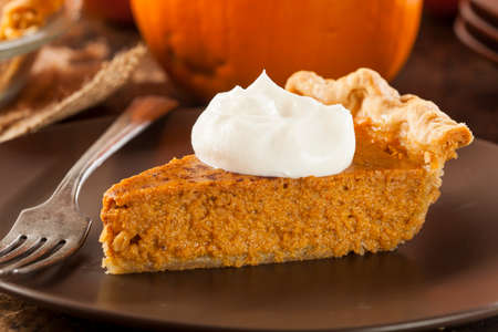 Homemade Delicious Pumpkin Pie made for Thanksgiving Stock Photo - 22711114