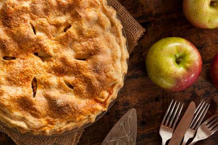 pie: Homemade Organic Apple Pie Dessert Ready to Eat