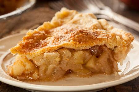 flaky: Homemade Organic Apple Pie Dessert Ready to Eat