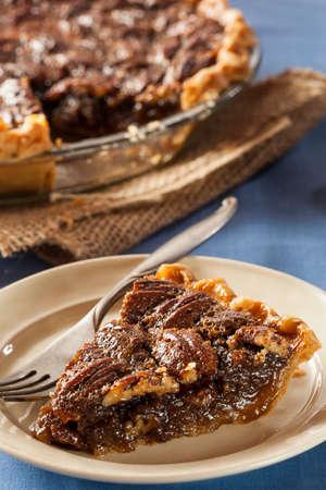 pecan pie: Hecho en casa delicioso Pecan Pie para las fiestas