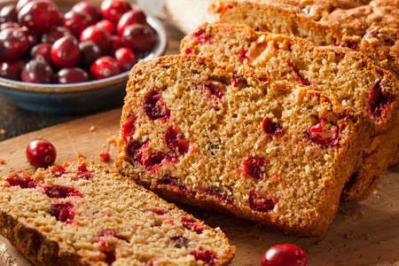 homemade bread: Homemade Delicious Cranberry Bread for the Holidays