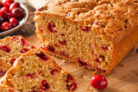 weihnachtskuchen: Hausgemachte K�stliche Cranberry Brot f�r die Feiertage