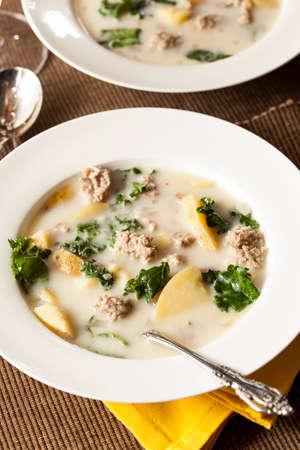 tuscana: Sausage and Kale Tuscana Soup with Potato Appetizer