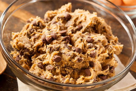 Homemade Chocolate Chip Cookie Dough Ready to Bake photo