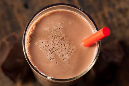 Verfrissende Heerlijke Chocolademelk Met Echte Cacao