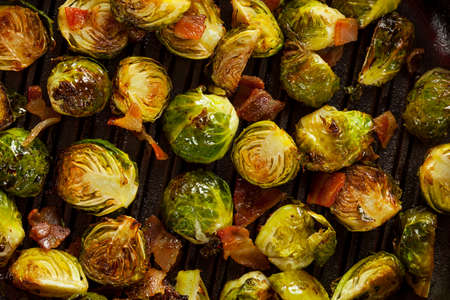 Homemade Grilled Brussel Sprouts with Fresh Bacon Reklamní fotografie - 24058155