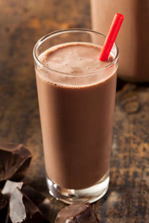 Refreshing Delicious Chocolate Milk with Real Cocoa photo