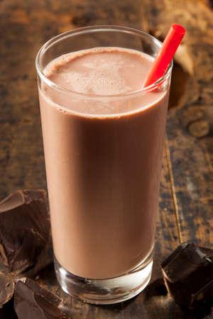 Rafraîchissement délicieux chocolat au lait avec du cacao réel Banque d'images - 24048940