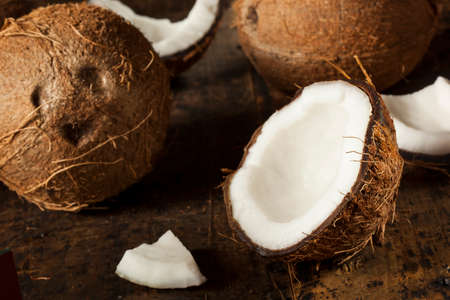 Fresh Organic Brown Coconut with White Flesh photo