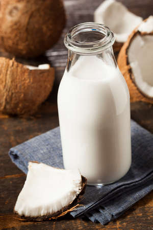 coconut drink: Fresh Organic Coconut Milk in a Bottle