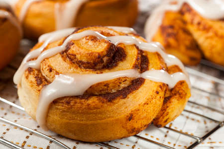 Homemade Cinnamon Roll Pastry with Vanilla Icing