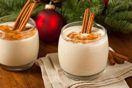 egg cup: Homemade Festive Cinnamon Eggnog for the Holidays