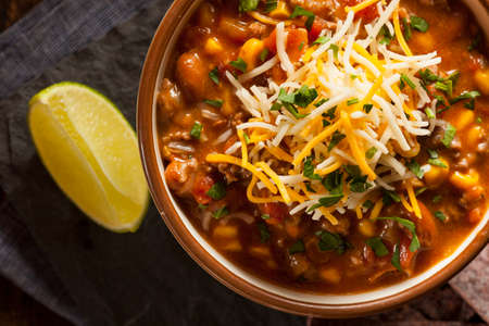southwest: Soutwestern Santa Fe Soup with Beans Corn and Cheese