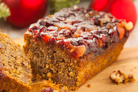 Festive Homemade Holiday Fruitcake with Nuts and Seasoning