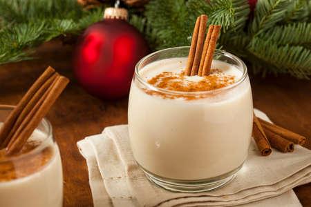 Homemade Festive Cinnamon Eggnog for the Holidays