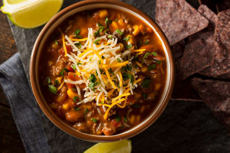 southwestern: Soutwestern Santa Fe Soup with Beans Corn and Cheese