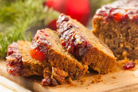 fruitcake: Festive Homemade Holiday Fruitcake with Nuts and Seasoning