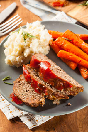 Homemade Ground Beef Meatloaf with Ketchup and Spices Stock Photo - 24927673