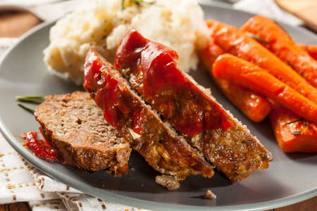 MEAT LOAF: Homemade Ground Beef Meatloaf with Ketchup and Spices