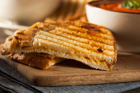 Grilled Cheese Sandwich with Creamy Tomato Basil Soup photo