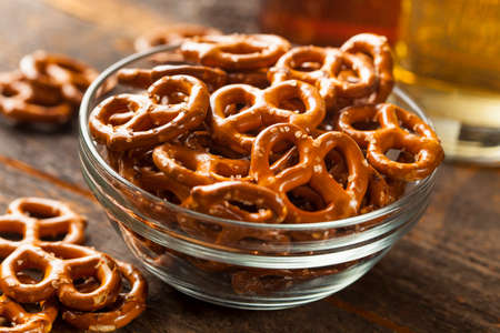 heap: Organic Brown Mini Pretzels with Salt and a Beer