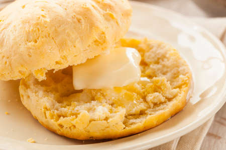 flaky: Homemade Hot Buttermilk Biscuits to eat at Breakfast