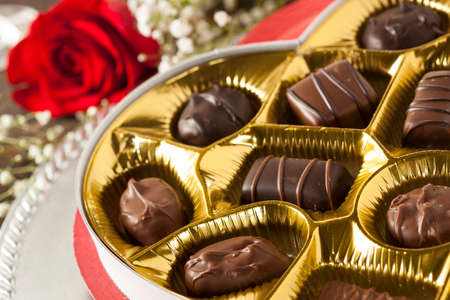 fancy box: Fancy Box of Gourmet Chocolates for Valentines Day