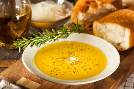 olive green: Italian Bread with Olive Oil for Dipping with Pepper and Cheese